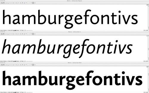 Calluna Sans Italic first draft
