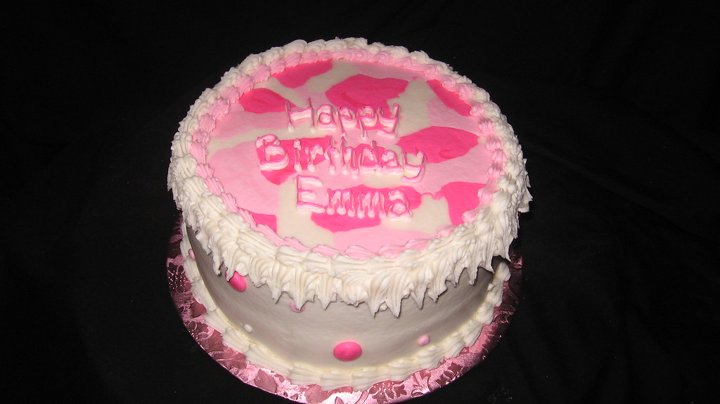 Fantastic Pink Camo Birthday Cake Tslcakes Com Flickr Funny Birthday Cards Online Overcheapnameinfo