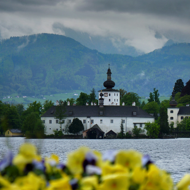 Schloss Ort on an island in the Traunsee