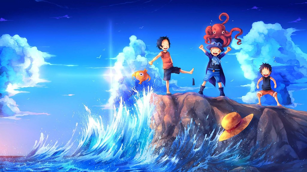 Sabo Luffy Ace Hd Wallpaper One Piece Art 1920x1080 1920x1