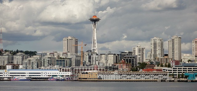 Seattle Space Needle from Puget Sound