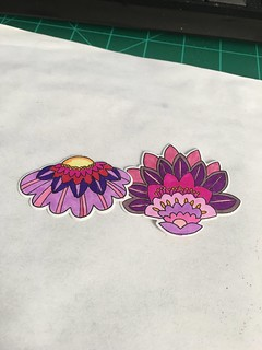 Fancy Flowers colored with markers | by rdhsandy