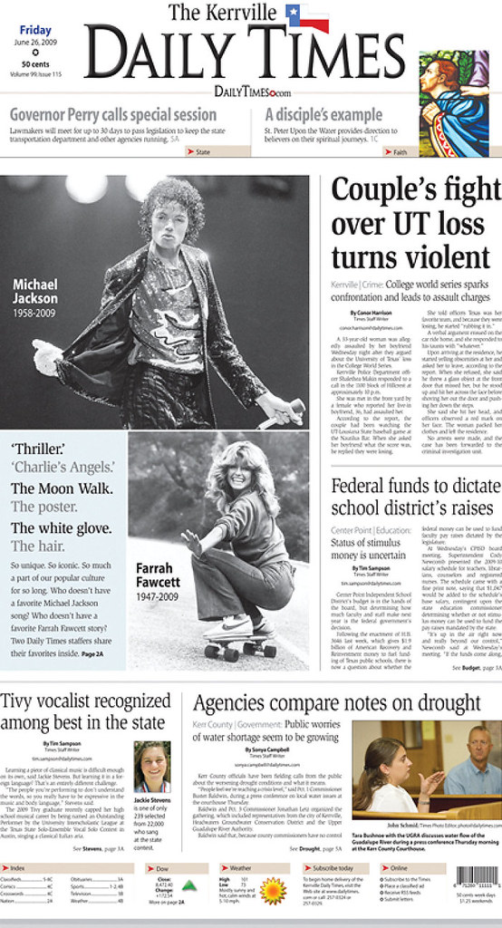 The Kerrville Daily Times, published in Kerrville, TX USA ...