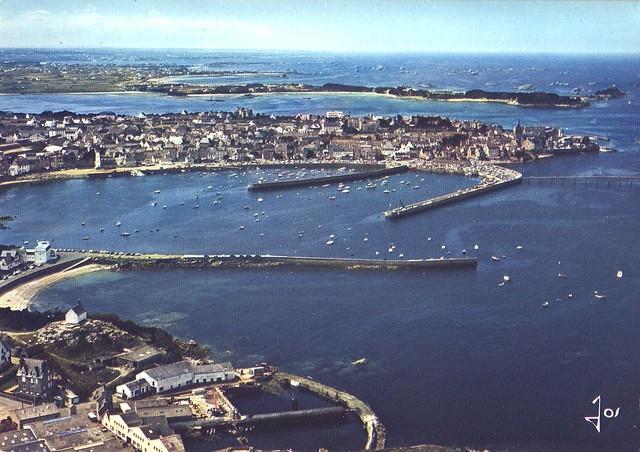 Roscoff - Vue aérienne du port