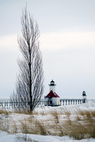 winter lighthouse snow ice flickr dunes lakemichigan greatlakes nikkor100300mmf56ais sonyalpha7rilce7ra7r