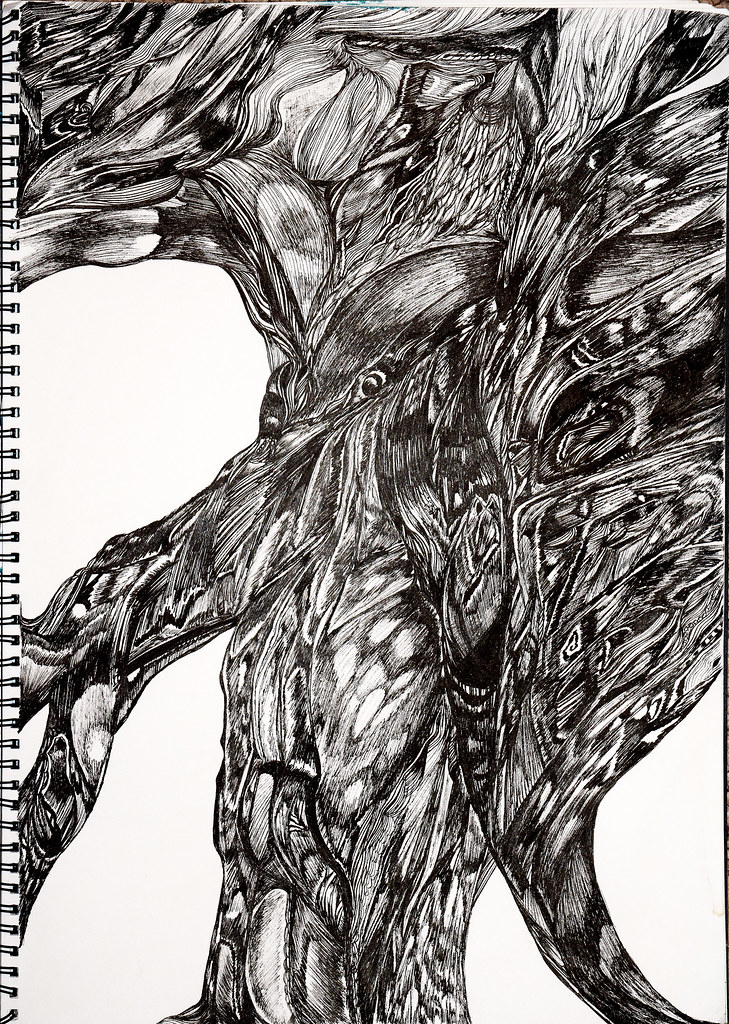 Abstract Drawing Black Pen This Is In An A3 Sized Artbook