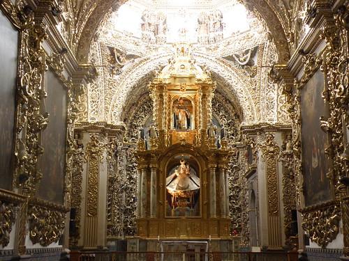 P8180251 Iglesia de Santo Domingo-Capilla del Rosario Puebla.,Puebla. Mexico por LAE Manuel Vela