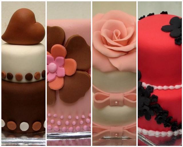 mini 2-tier cakes