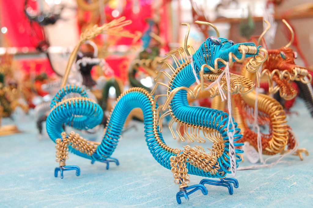 Chinese dragon in a japanese neighborhood