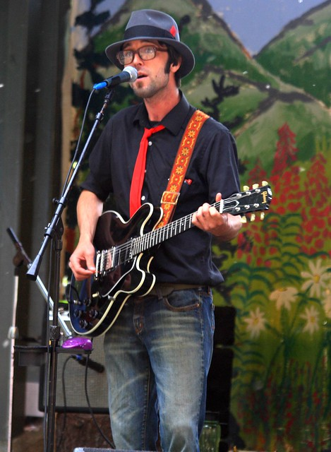Guitar player of a great band at the Girdwood Forest Fair
