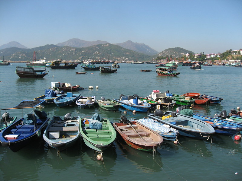 Boats on Cheung Chau Island