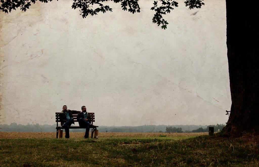 """""""Us"""" a bench a monday... by M. Raj"""