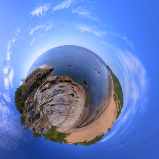 Tadoussac Sand Dunes - Stereographic Planetoid | by haban hero