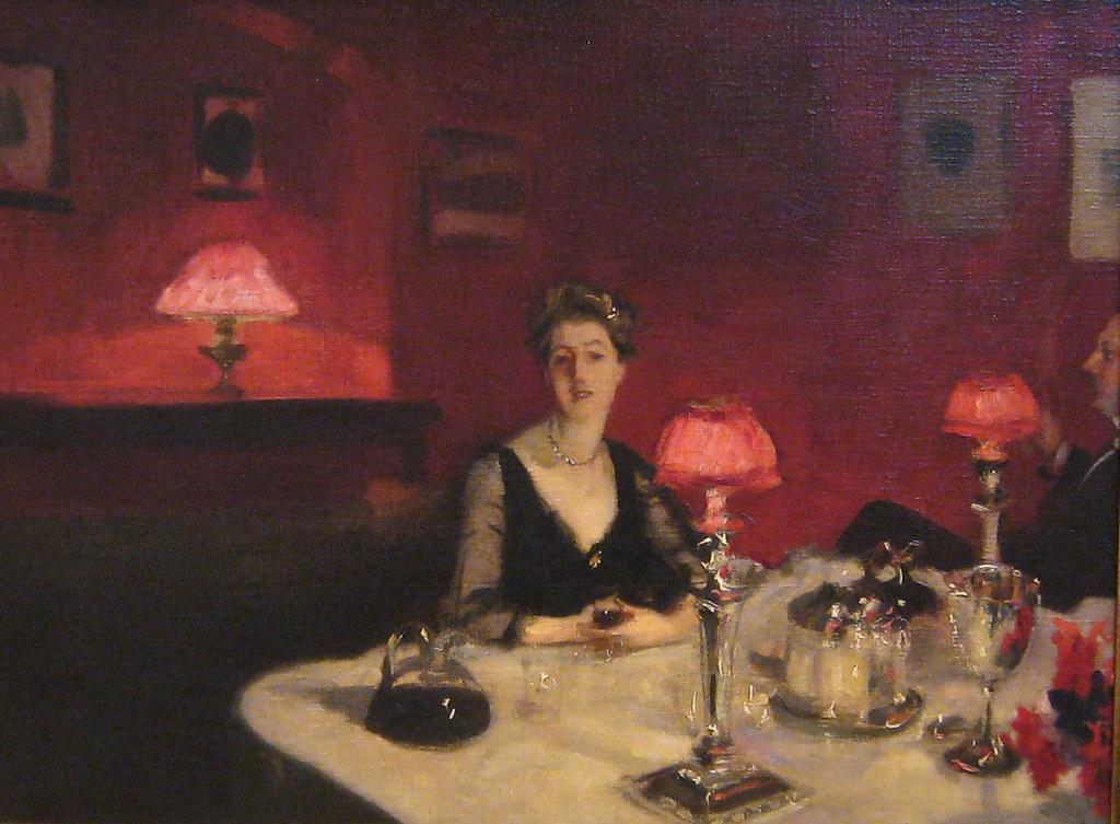 John Singer Sargent, A Dinner Table At Night, 1884 | Flickr