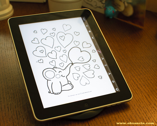 Tutorial: Have Fun With Rondy the Elephant Coloring Pages On Your iPad