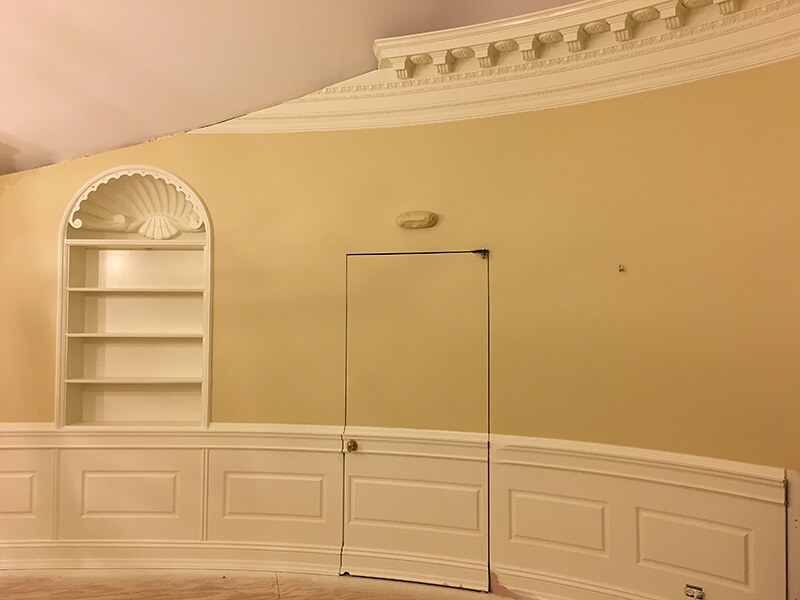Curved Raised Panels And Hidden Door By Oval Office Design Flickr