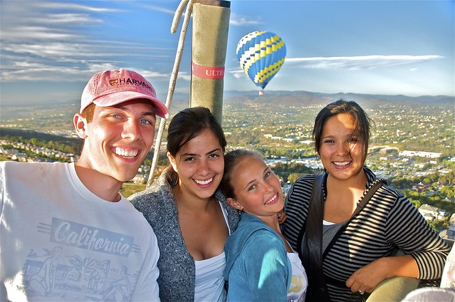 Russian Mexican Family on Balloon Ride