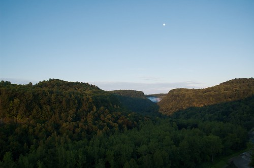 park trees moon sunrise landscape d70 valley letchworth 1870mm