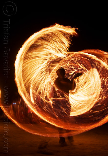 DSC08952 - Burning Man 2009 - Spinning Fire Ropes | by loupiote (Old Skool) pro