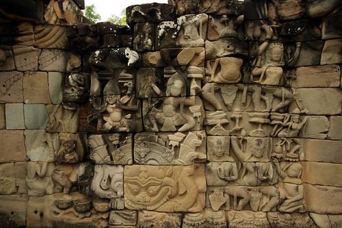 2009-09-03 09-07 Siem Reap 088 Angkor Thom, Terrace of Elephants | by Allie_Caulfield