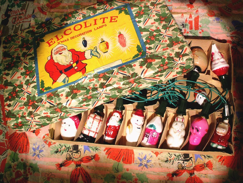 Vintage Christmas Lights.Vintage Christmas Lights C1930s But Will They Work Again T