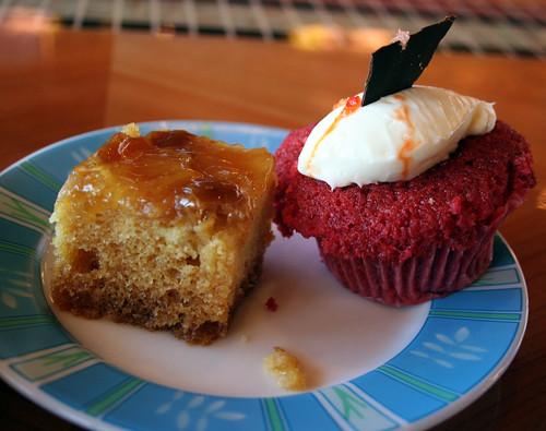 Pineapple Cake, Red Velvet Cupcake (Carnival Splendor)   by Miss Shari