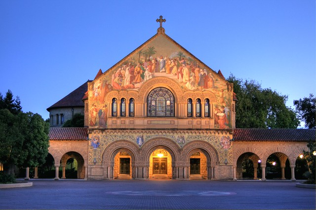 Twilight Glow at Stanford - Site of Steve Jobs' Memorial Service