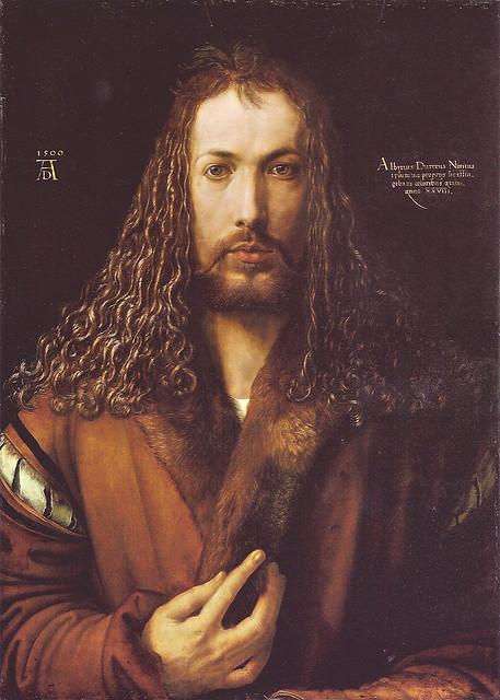 Albrecht Dürer: Self Portrait in a Fur-Collard Robe (1500)