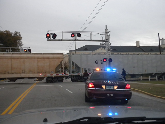 The train was going too fast...