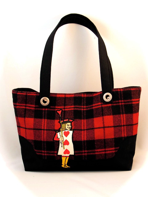 one armed jack (sold) | 3rdlife tote: handmade from reclaime