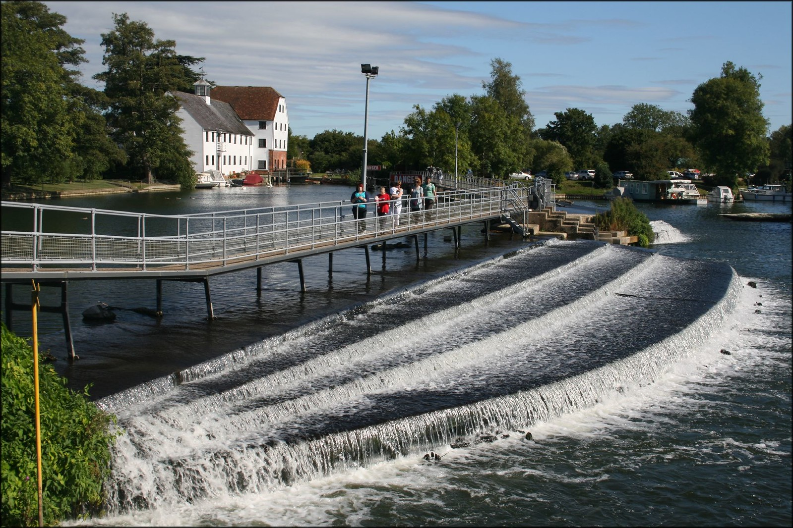 Hambleden Weir and Mill A footpath crosses the bridge over the weir.