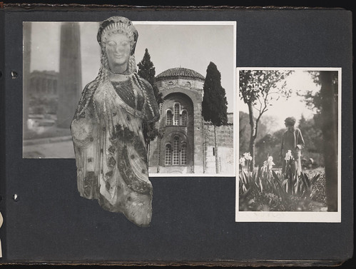 [Scrapbook containing photographs of H. D., Kenneth Mapherson, Bryher, and others with various clippings, Classical architecture, sculpture, etc.] | by Beinecke Library