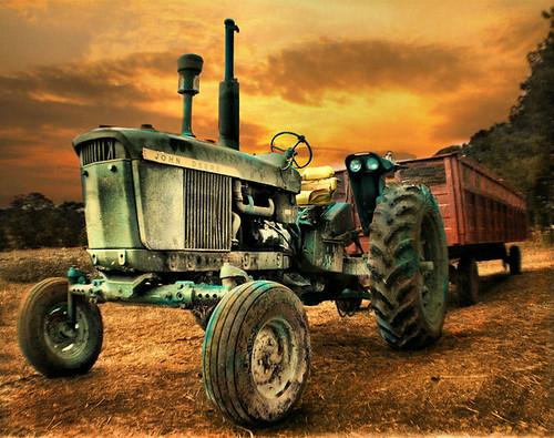 autumn sunset sky orange tractor color green fall texture field clouds wagon nc durham farm machine vivid northcarolina tires hayride fury johndeere ganyardhillfarm