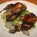 Roast partridge with roast new potatoes