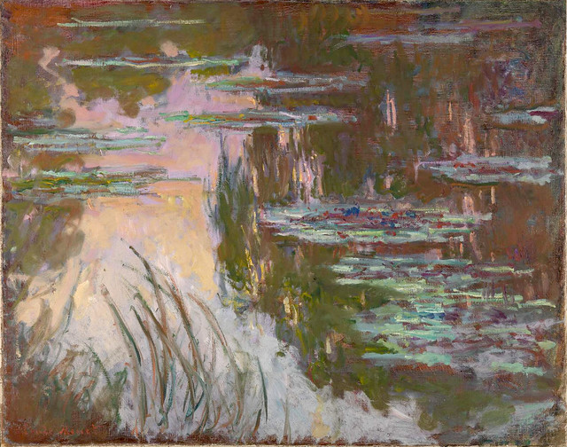 CM 1907 Water-Lilies, setting sun - London, NG total