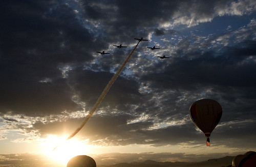 clouds sunrise dawn nevada salute patriotic formation reno flyby renoballoonraces
