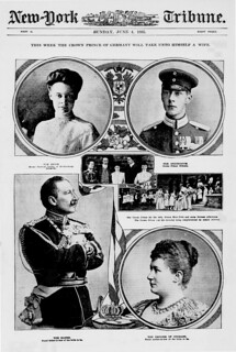 This week the Crown Prince of Germany will take unto himself a wife (LOC)