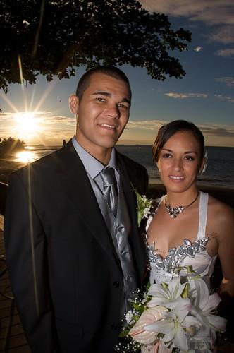 wedding sunset marriage tahiti frenchpolynesia arue