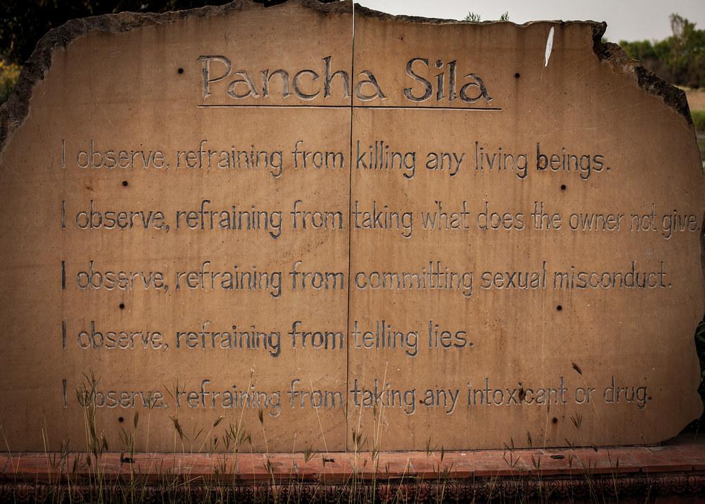 Pancha Sila, Lumbini - birthplace of the Buddha and Buddhist Temple City - Nepal