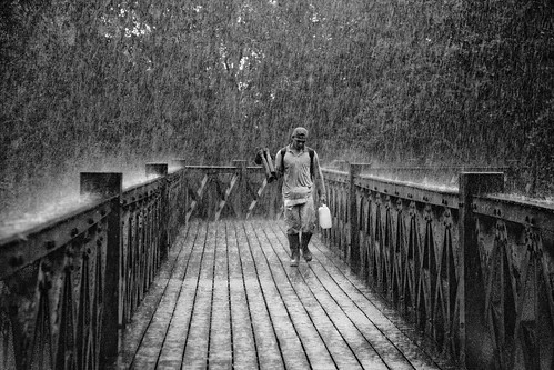 He comes with the rain