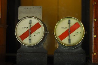 "Track circuit indicators in ""Midford Signalbox"", Washford, West Somerset Railway 