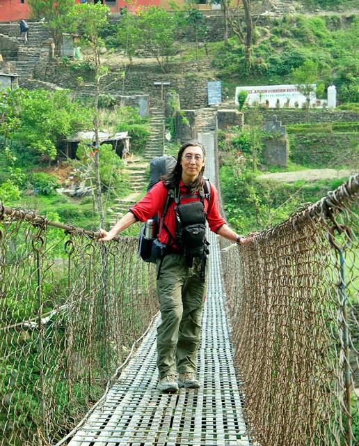 On suspension bridge