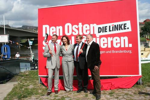 Bodo Ramelo, Kerstin Kaiser, André Hahn und Lothar Bisky | by DIE LINKE. Sachsen