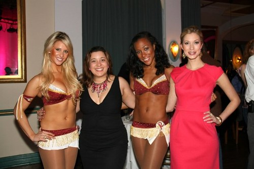 Washington Redskins Cheerleaders, Miss DC 2008 Kate Marie Grinold, and PINK JAMS! Founder Christa Floresca