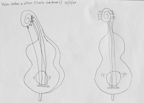 Violin. Before and after | by Roy Gbiv