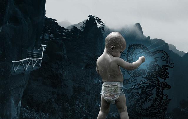 My son mastering the zen of kung fu  #photoshopphriday | Flickr