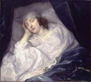 Venetia Stanley, Lady Digby, on her deathbed | by lisby1