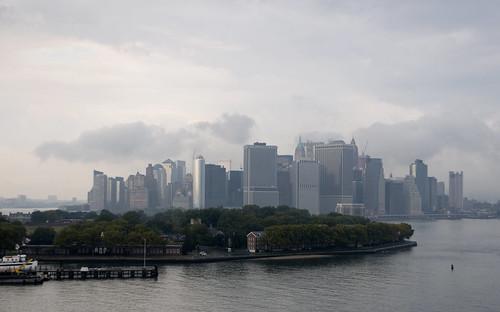 Manhattan Behind Governor's Island
