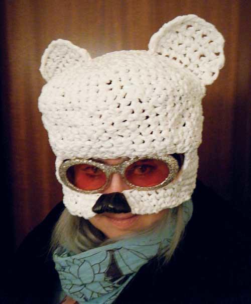 mutant polar bear mask