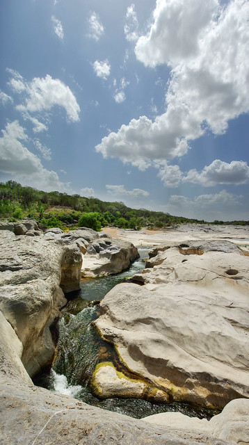 Marble Falls limestone, Pedernales Falls State Park, Blanco County, Texas 3